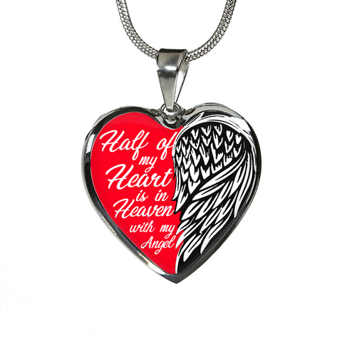 Half of My Heart in Heaven Necklace