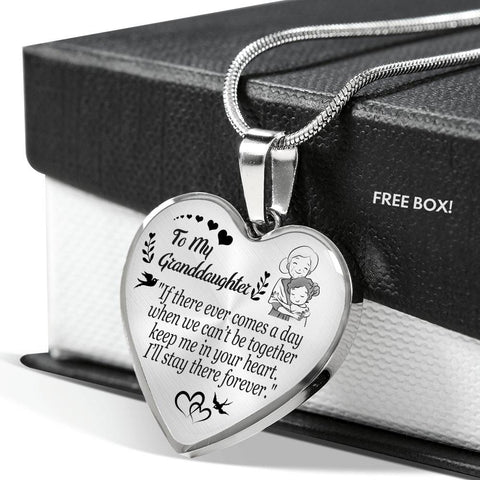 To My Granddaughter - Keep Me In Your Heart - Luxury Necklace