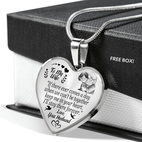 To My Wife - Keep Me In Your Heart - Luxury Heart Necklace