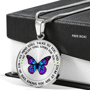 My Mind Still Talks To You - Butterfly Memorial Necklace
