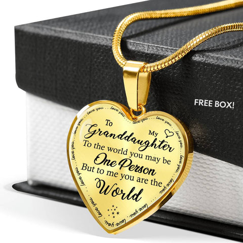 To My Granddaughter - You Are The World Necklace