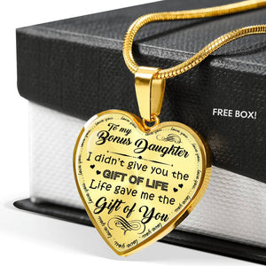 Bonus Daughter I Didn't Give You The Gift Of Life Necklace (Gold/Silver)