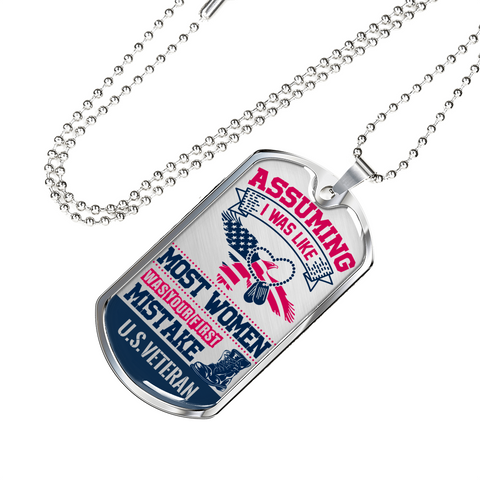 US Veteran Women Military Tag