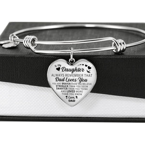 Dad to Daughter Always Remember  - Luxury Charm Bracelet