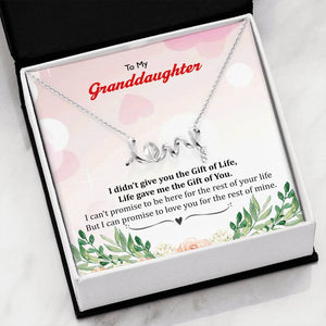 To My Granddaughter - I Didn't Give You Gift Of Life Luxury Love Necklace