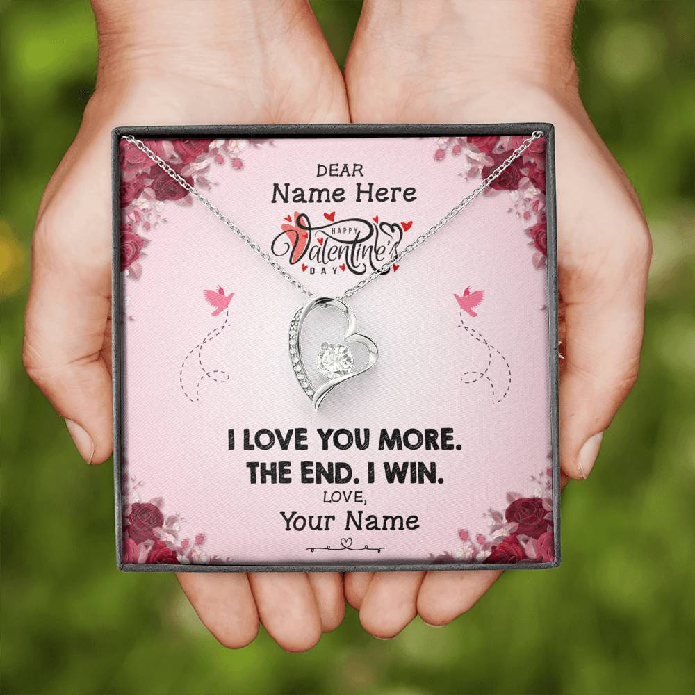 I Love You More - Personalized Name - Forever Love Necklace