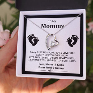 To My Mommy - I May Just Be a Bump - Forever Love Necklace