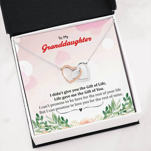 To My Granddaughter Interlocking Heart Luxury Necklace