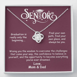 Senior 2021 - Graduation is Only The Beginning - Love Knot Necklace