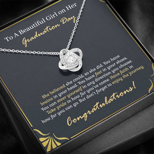 To A Beautiful Girl - Graduation Gift - Love Knot Necklace