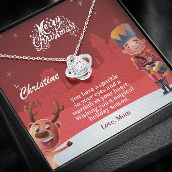 Custom Names - You have a sparkle in your eyes (Christmas) - Love Knot Necklace