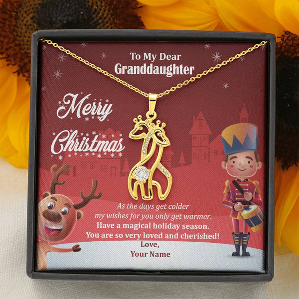 My Dear Granddaughter - Have A Magical Holiday Season - Giraffe Necklace