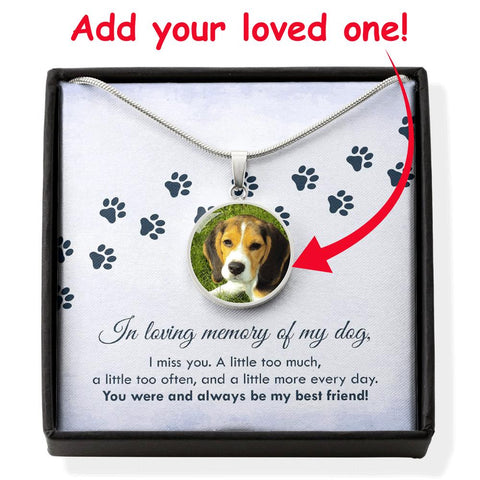 In Loving Memory Of My Dog - Personalized Photo Necklace