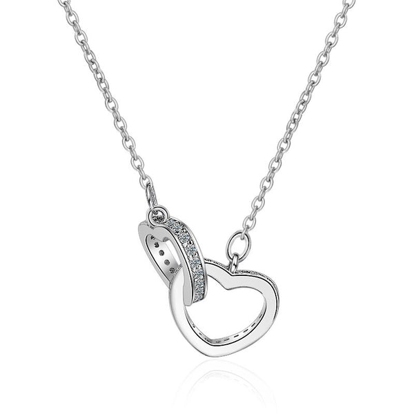 To My Granddaughter - I Promise To Love You - Double Heart Necklace