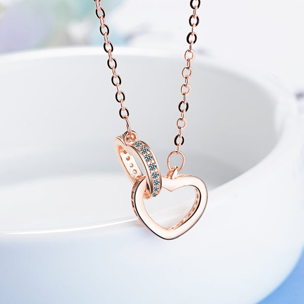 Dad to Daughter - You Are a Gift From Heaven - Double Heart Necklace