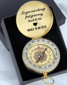 So You Can Always Find Your Way Back To Me - Personalized Compass