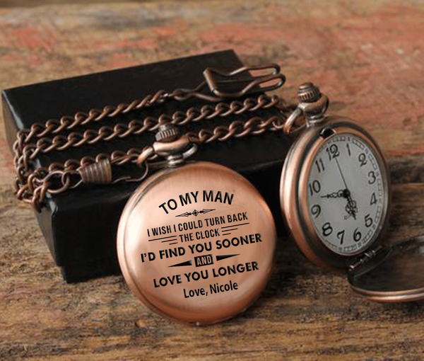 I Wish I Could Turn Back The Clock Personalized Pocket Watch