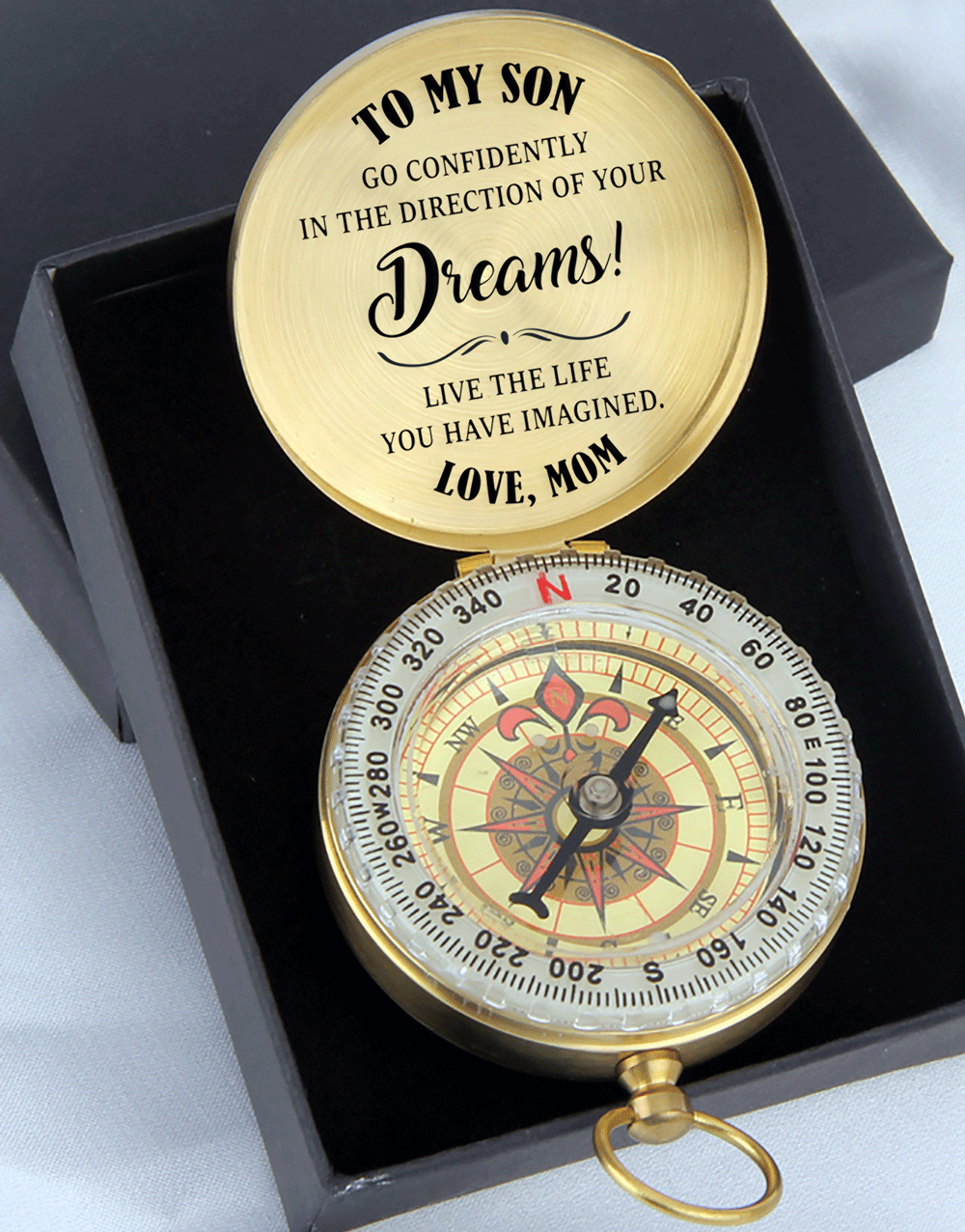 Mom to Son - Go Confidently in The Direct of Your Dreams - Compass
