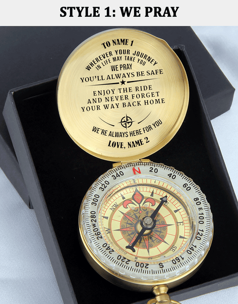 Personalized Name - Pray You'll Always Be Safe - Compass