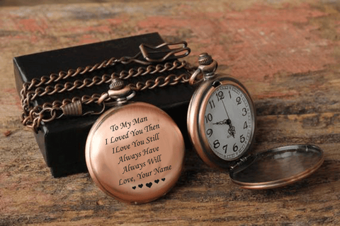 Always Love You Personalized Pocket Watch
