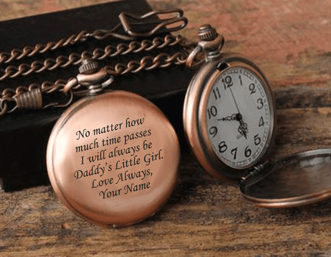 Daddy's Girl Personalized Pocket Watch