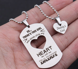 Daddy's Girl Necklace Set - Gift for Father & Daughter