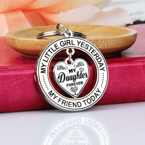 My Daughter Forever Keychain - Daughter Gift