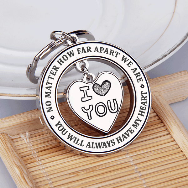 No Matter How Fart Apart We Are Keychain Gift For Couples