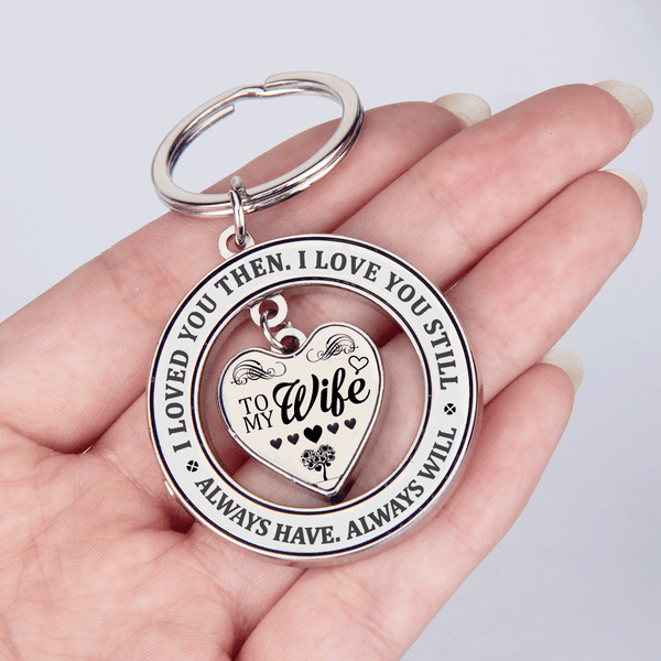 To My Wife - I Love You Always Keychain