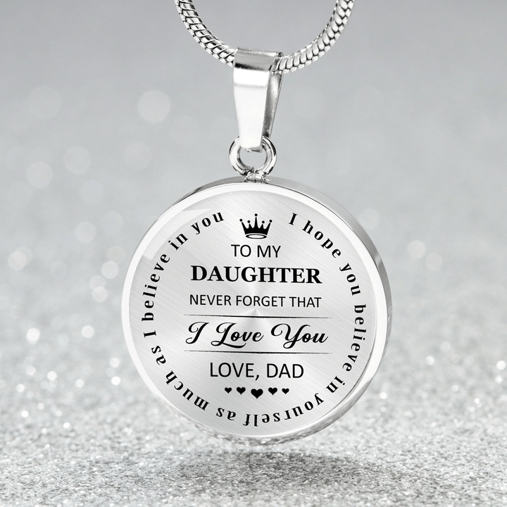 b04115e5be97b To My Daughter Never Forget That Dad Love You Necklace - Gift for Daughter