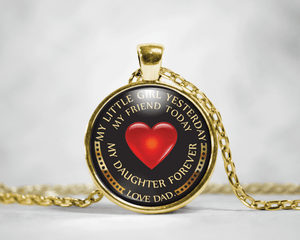 My Daughter Forever Necklace (Dad Love Daughter)