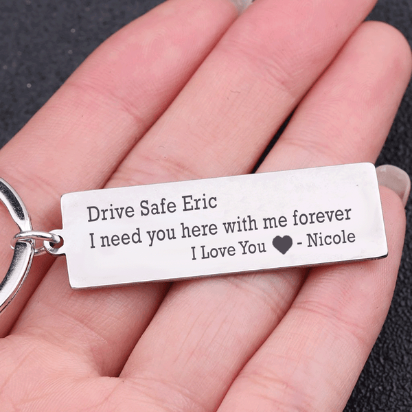 Personalized Drive Safe Keyring