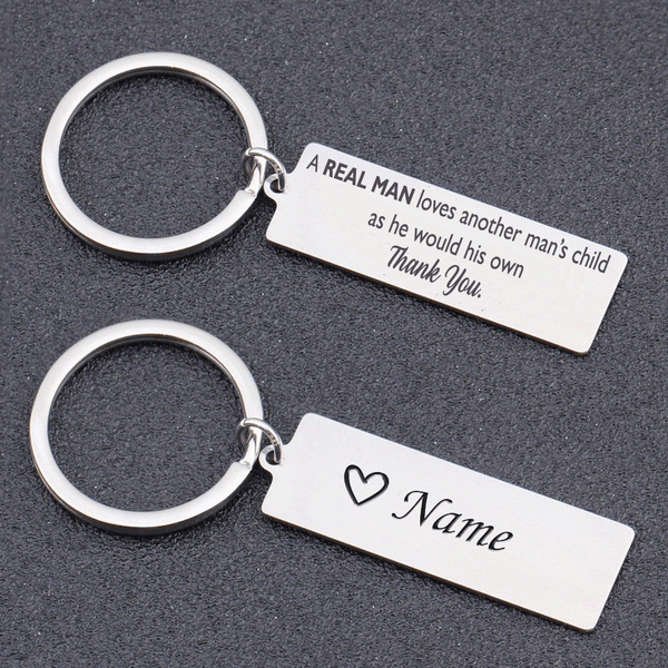 Keyring for Stepdad - Real Man Loves Another Man's Child