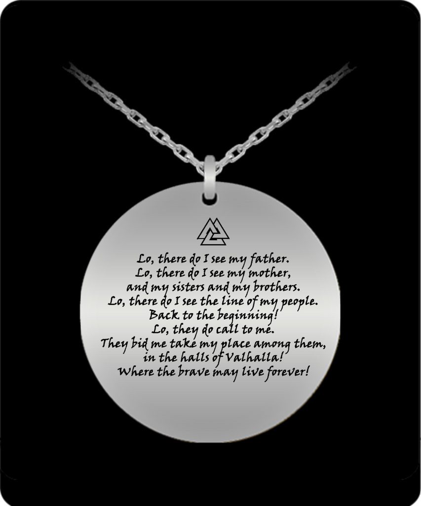 Viking Prayer Engraved Necklace Most Needed Gifts