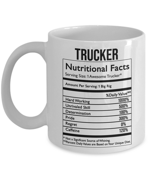 Trucker - Nutritional Facts Funny Mug