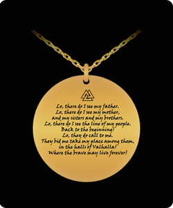 Viking Prayer Engraved Necklace