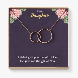 To My Daughter - Necklace Gift With Heartfelt Message