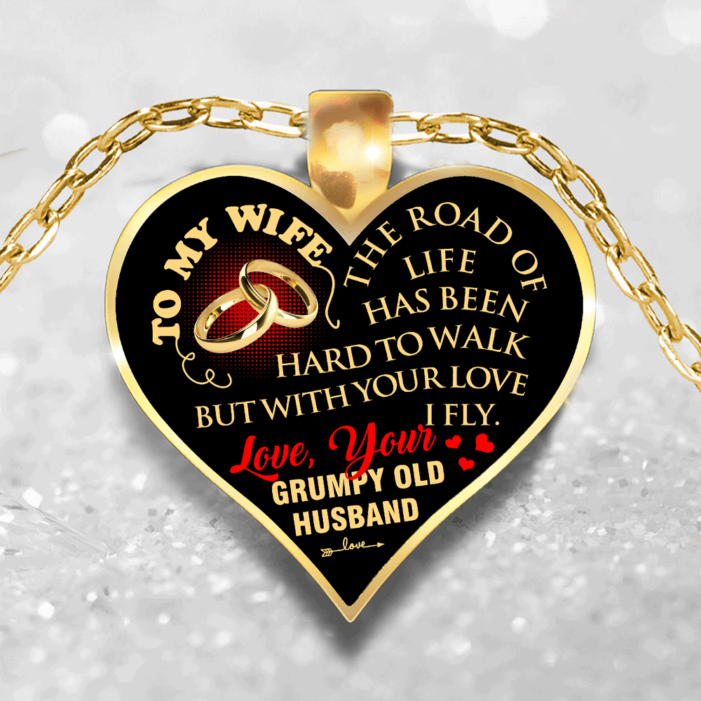 To My Wife - With Your Love I Fly - Necklace