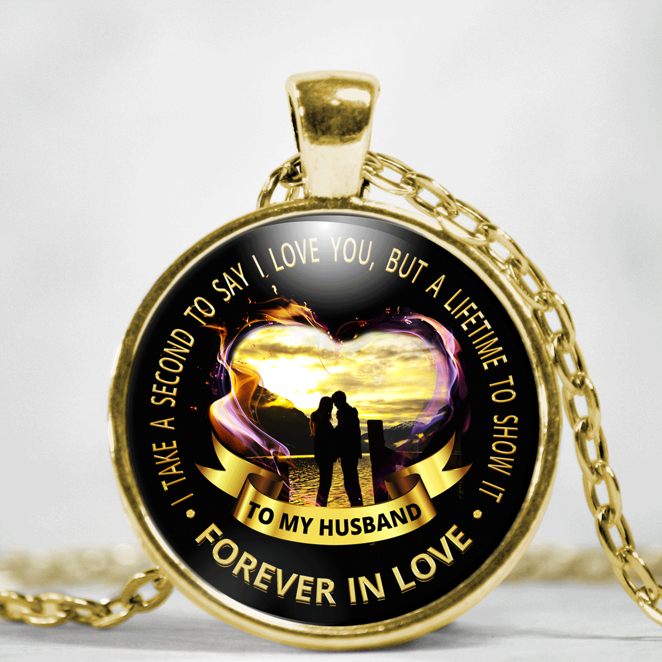 To My Husband Forever In Love Necklace