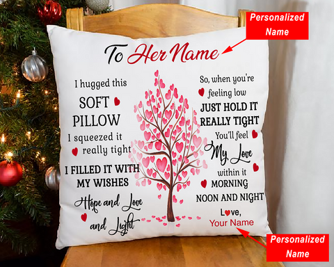 Personalized Name I Hugged This - Pillowcase