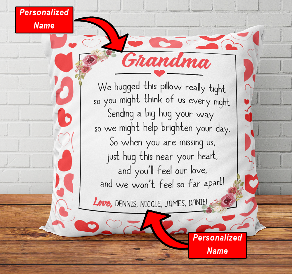 Social Distancing Grandma Gift Personalized Pillow