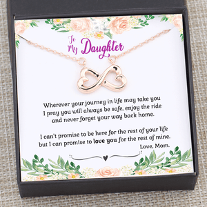 Mom to Daughter Wherever Your Journey in Life May Take You Necklace Gift Box
