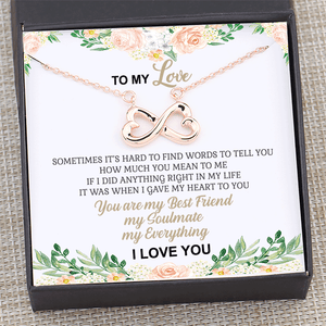 To My Love You Are My Everything Necklace Gift Card