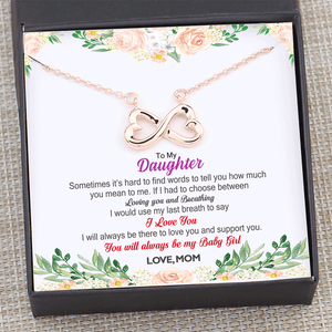 Mom to Daughter - You Will Always Be My Baby Girl Necklace Gift Box