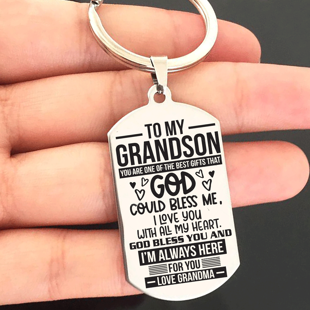 Grandma to Grandson - You Are Best Gifts From God Keychain