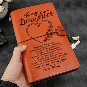 Mom To Daughter I Am So Proud of You Leather Journal