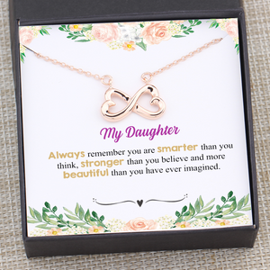 My Daughter You're Smarter Than You Think Heartfelt Necklace Gift Box