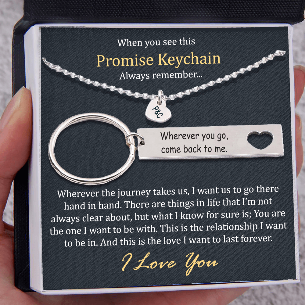 When You See This Promise Keychain - Keychain and Heart Necklace
