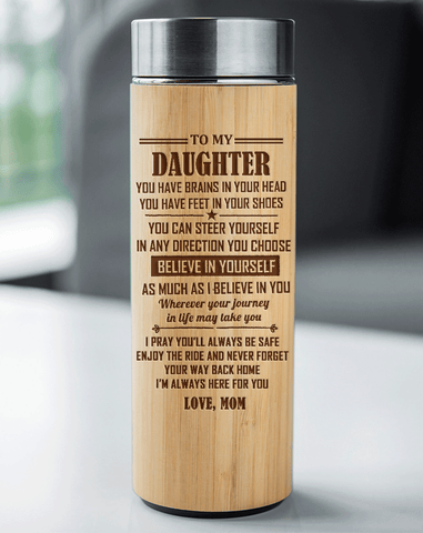Mom to Daughter - I'm Always Here For You Engraved Bamboo Vacuum