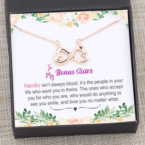 Bonus Sister Gift - Family isn't always blood Necklace Gift Box